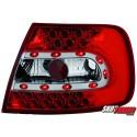 LAMPY TYLNE LED AUDI A4 B5 SEDAN 95-10.00 CZERWONE/PRZEŹROCZYSTE