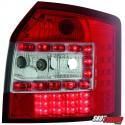 LAMPY TYLNE LED AUDI A4 8E AVANT 01-04CZERWONE/PRZEŹROCZYSTE
