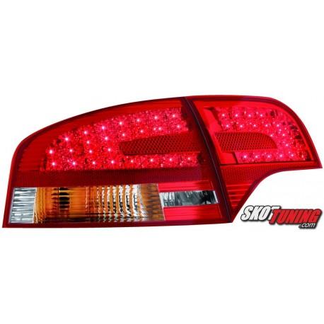 LAMPY TYLNE LED AUDI A4 SEDAN B7 04-08 CZERWONE/PRZEŹROCZYSTE