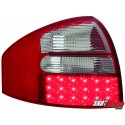 LAMPY TYLNE LED AUDI A6 97-04 SEDAN CZERWONE/PRZEŹROCZYSTE