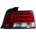 LAMPY TYLNE LED BMW E36 SEDAN 92-98 CZERWONE/PRZEŹROCZYSTE