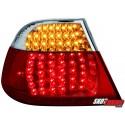 LAMPY TYLNE LED BMW E46 COUPÉ 98-03 CZERWONE/PRZEŹROCZYSTE