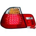 LAMPY TYLNE LED BMW E46 SEDAN 98-01 CZERWONE/PRZEŹROCZYSTE