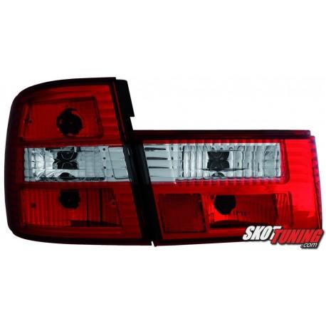 LAMPY TYLNE BMW 5 E34 SEDAN 85-95 CZERWONE/PRZEŹROCZYSTE