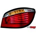 LAMPY TYLNE LED BMW 5 E60 04-07 CZERWONE/PRZEŹROCZYSTE