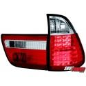 LAMPY TYLNE LED BMW X5 00-02 CZERWONE/PRZEŹROCZYSTE