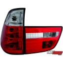 LAMPY TYLNE BMW X5 00-02 CZERWONE/PRZEŹROCZYSTE