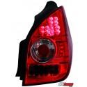 LAMPY TYLNE LED CITROEN C2 02-05 CZERWONE/PRZEŹROCZYSTE