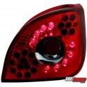 LAMPY TYLNE LED FORD FIESTA 4/5 95-99 CZERWONE/PRZEŹROCZYSTE
