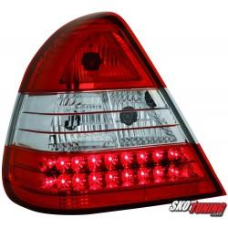 LAMPY TYLNE LED MERCEDES BENZ W202 C-KLASSE 94-00 CZERWONE/PRZEŹROCZYSTE