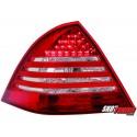 LAMPY TYLNE LED MERCEDES BENZ W203 C-KLASA 00-04  CZERWONE/PRZEŹROCZYSTE