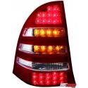 LAMPY TYLNE LED MERCEDES BENZ C W203 00-12/04 KOMBI CZERWONE/PRZEŹROCZYSTE