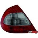 LAMPY TYLNE LED MERCEDES BENZ E W211 SEDAN CZERWONE/DYMIONE