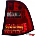 LAMPY TYLNE LED MERCEDES BENZ W163 M-KLASSE CZERWONE/PRZEŹROCZYSTE