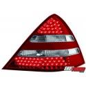 LAMPY TYLNE LED MERCEDES BENZ SLK R170 00-04 CZERWONE/PRZEŹROCZYSTE