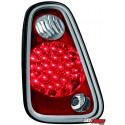 LAMPY TYLNE LED MINI ONE/COOPER 04-06 CZERWONE/PRZEŹROCZYSTE