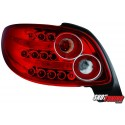 LAMPY TYLNE LED PEUGEOT 206CC 98-09 CZERWONE/PRZEŹROCZYSTE