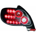 LAMPY TYLNE LED PEUGEOT 206 98-09 CZARNE