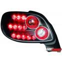 LAMPY TYLNE LED PEUGEOT 206CC 98-09 CZARNE
