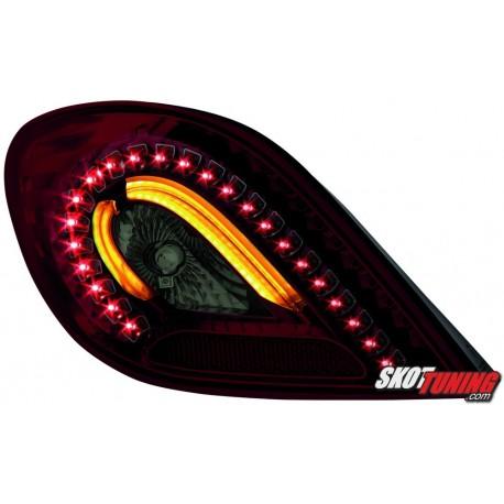 LAMPY TYLNE LED PEUGEOT 207 06+ CZERWONE/DYMIONE