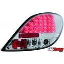 LAMPY TYLNE LED PEUGEOT 207 06+ PRZEŹROCZYSTE