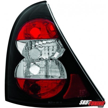 LAMPY TYLNE RENAULT CLIO II 98-01 CZARNE