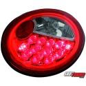 LAMPY TYLNE LED VW NEW BEETLE 97+ CZERWONE/PRZEŹROCZYSTE