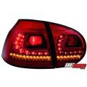 LAMPY TYLNE LITEC VW GOLF V 03-09 CZERWONE/PRZEŹROCZYSTE