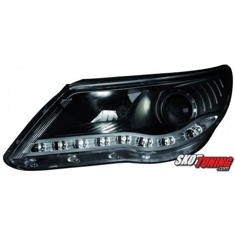 REFLEKTORY VW TIGUAN 07-11 CZARNE
