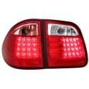 LAMPY TYLNE LED MERCEDES BENZ W210 E-KLASA 96-03 KOMBI CZERWONE/PRZEŹROCZYSTE