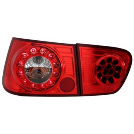 LAMPY TYLNE LED SEAT IBIZA 6K2 08.99-02.02 CZERWONE/PRZEŹROCZYSTE