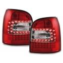 LAMPY TYLNE LED AUDI A4 B5 AVANT 95-01 CZERWONE / PRZEŹROCZYSTE