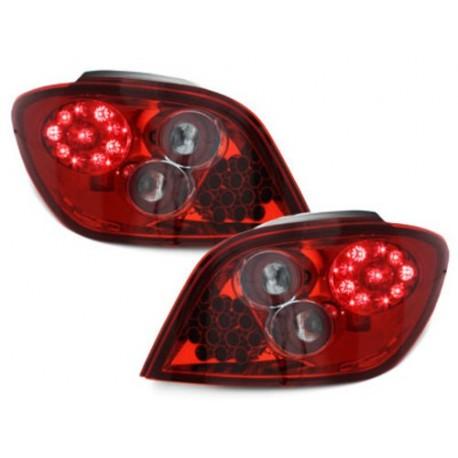 LAMPY TYLNE LED PEUGEOT 307 01-05 CZERWONE/PRZEŹROCZYSTE