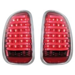 carDNA LAMPY TYLNE LED MINI COUNTRYMAN R60 10+ CZERWONE PRZEŹROCZYSTE