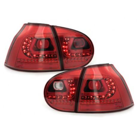 LAMPY TYLNE LITEC VW GOLF V 03-09 CZERWONE / PRZEŹROCZYSTE