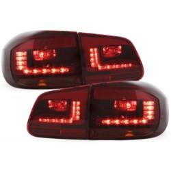 LAMPY TYLNE LED VW TIGUAN 11+  CZERWONE / DYMIONE