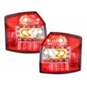 LAMPY TYLNE LED AUDI A4 8E AVANT 01-04 CZERWONE / PRZEŹROCZYSTE