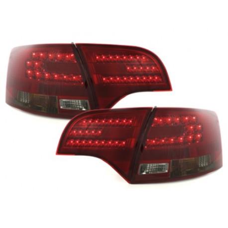 LAMPY TYLNE LED AUDI AVANT B7 04-08 CZERWONE / DYMIONE