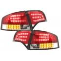 LAMPY TYLNE LED AUDI A4 SEDAN B7 04-08 CZERWONE / PRZEŹROCZYSTE