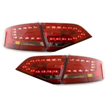 LAMPY TYLNE LED AUDI A4 B8 8K SEDAN 07+ CZERWONE / PRZEŹROCZYSTE