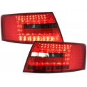 LAMPY TYLNE LED AUDI A6 4F SEDAN 04-08 CZERWONE / DYMIONE