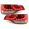 LAMPY TYLNE LED AUDI Q7 05-09 CZERWONE / PRZEŹROCZYSTE