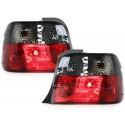 LAMPY TYLNE BMW E36 COMPACT 92-98 CZERWONE / DYMIONE