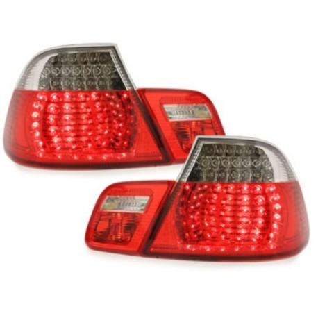 LAMPY TYLNE LED BMW E46 COUPE 98-03 CZERWONE / PRZEŹROCZYSTE