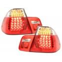 LAMPY TYLNE LED BMW E46 SEDAN 02-04 CZERWONE / PRZEŹROCZYSTE