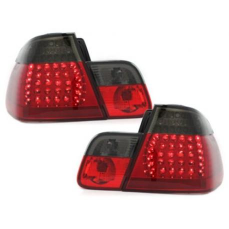 LAMPY TYLNE LED BMW E46 SEDAN 02-04 CZERWONE / DYMIONE