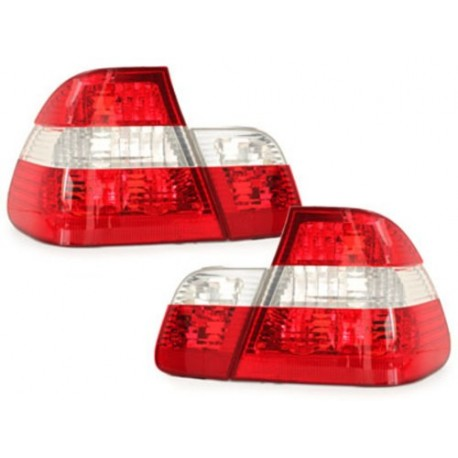 LAMPY TYLNE BMW E46 SEDAN 10.01-02.05 CZERWONE / PRZEŹROCZYSTE