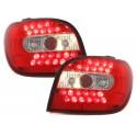 LAMPY TYLNE LED TOYOTA YARIS 98-03 CZERWONE/PRZEŹROCZYSTE
