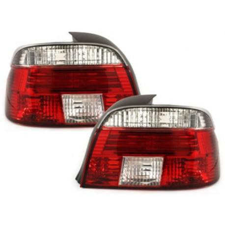 LAMPY TYLNE BMW 5 E39 SEDAN 95-00 CZERWONE/PRZEŹROCZYSTE