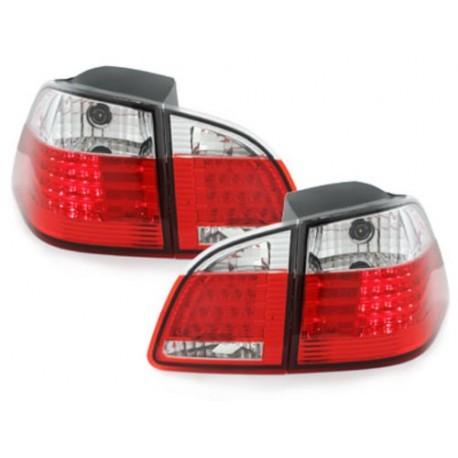 LAMPY TYLNE LED BMW 5 E61 TOURING 04-07 CZERWONE / PRZEŹROCZYSTE